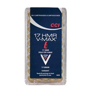 CCI MUNITION CAL 17 HMR V-MAX 0049