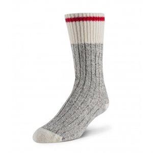 Chaussettes Boréal enfant gris / rouge