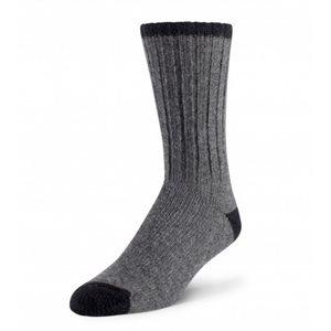 Chaussettes Caravan laine gris / noir