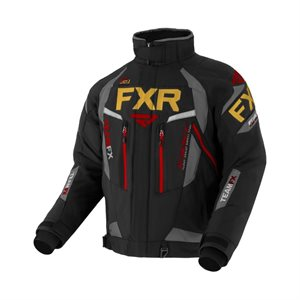 MANTEAU TEAM FX HOM BLACK / CHAR / GOLD / RUST LARGE