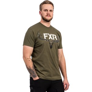 CHANDAIL ANTLER T-SHIRT 21 ARMY / BONE 212075-7501-10