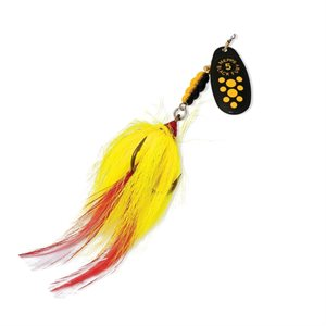 CUILLÈRE BLACK FURY MUSKY KILLER NOIRE POINT JAUNES BF5M-BYD