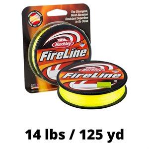 LIGNE FIRELINE 14 LBS 125 YD FLAME GREEN