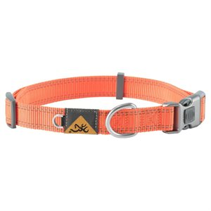 "Collier pour chien orange grand 18""-28"""