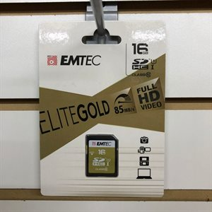 Carte SDHC 16GB Classe 10 Gold