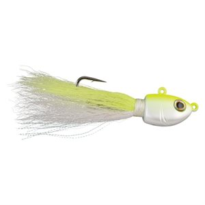 BUCKTAIL JIG 3 / 4 OZ WHITE / CHARTREUSE FUSION 19