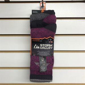 Chaussettes femme mauve 5-9 3 paires