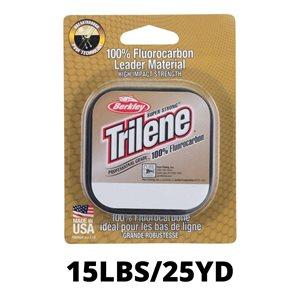 LIGNE TRILENE 100% FLUOROCARBONE 15LBS CLEAR