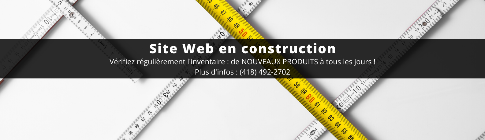 BANNIERE Site Web en construction